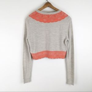 Anthropologie Sweaters - ANTHROPOLOGIE | wool lace cropped sweater 0345